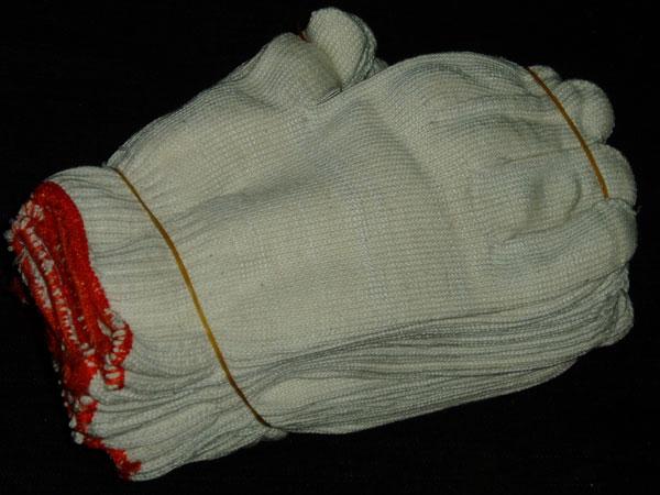 21支罗口纯棉纱手套