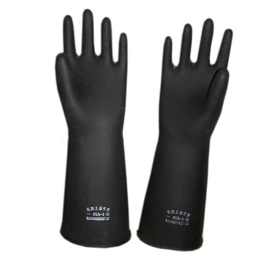 黑乳胶手套
